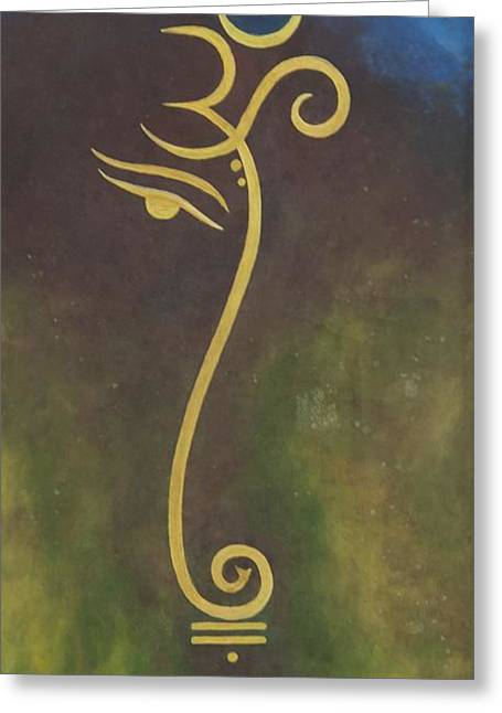 Universe Greeting Card by Usha Rai