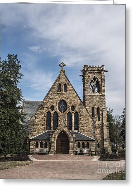 University Chapel Greeting Card by Terry Rowe