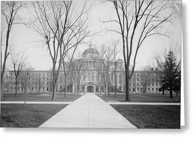 University Hall, University Of Michigan, C.1905 Bw Photo Greeting Card by Detroit Publishing Co.