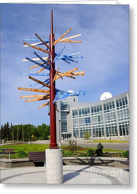 University Of Alaska Fairbanks Milepost Greeting Card