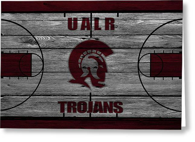 University Of Arkansas At Little Rock Trojans Greeting Card by Joe Hamilton