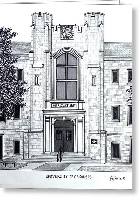 University Of Arkansas Greeting Card