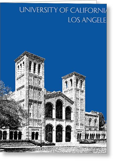 University Of California Los Angeles - Royal Blue Greeting Card by DB Artist