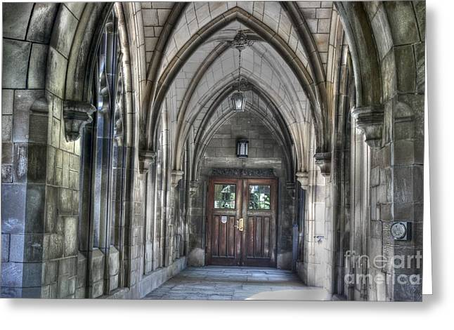 University Of Chicago Greeting Card by David Bearden