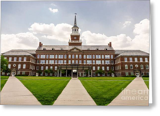 University Of Cincinnati Mcmicken College Hall Greeting Card by Paul Velgos