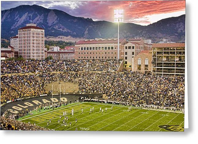 University Of Colorado Boulder Go Buffs Greeting Card by James BO  Insogna