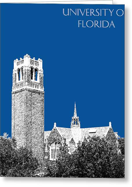 University Of Florida - Royal Blue Greeting Card