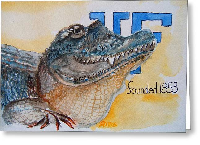 University Of Florida Greeting Card by Elaine Duras