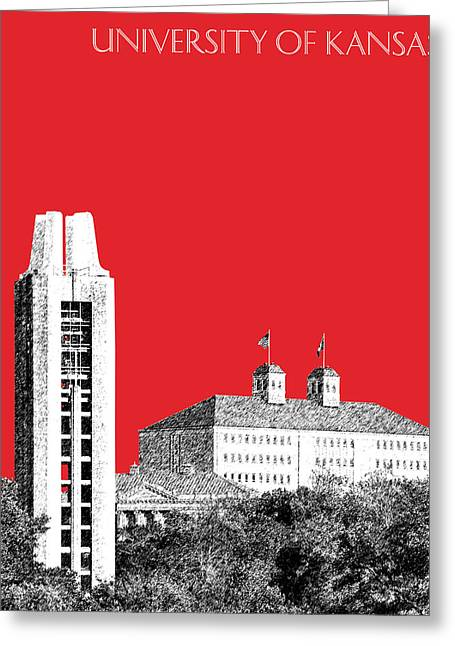University Of Kansas - Red Greeting Card
