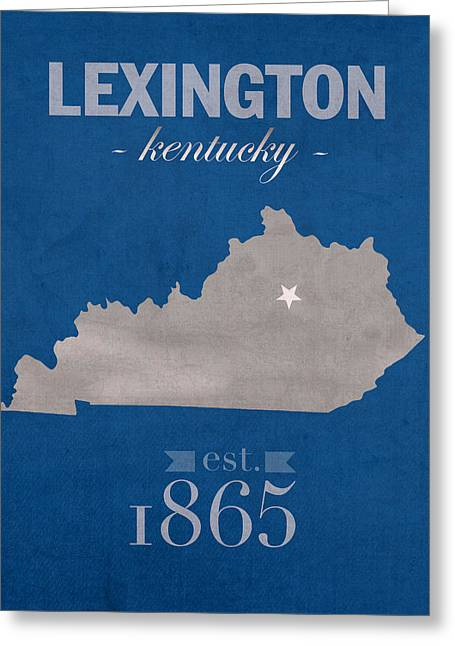 University Of Kentucky Wildcats Lexington Kentucky College Town State Map Poster Series No 054 Greeting Card by Design Turnpike