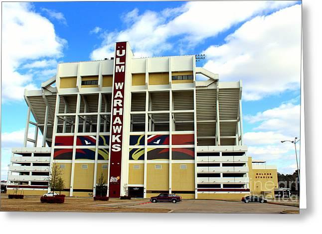 University Of Louisiana At Monroe Malone Stadium Greeting Card