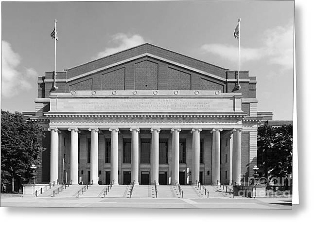 University Of Minnesota Northrop Auditorium Greeting Card by University Icons