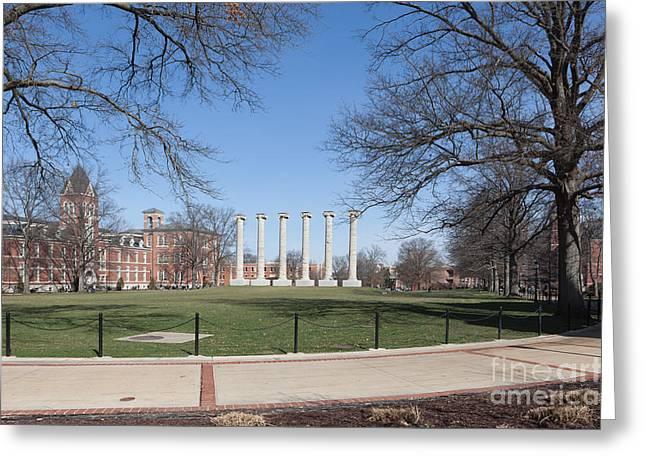 University Of Missouri Quad Greeting Card by Kay Pickens