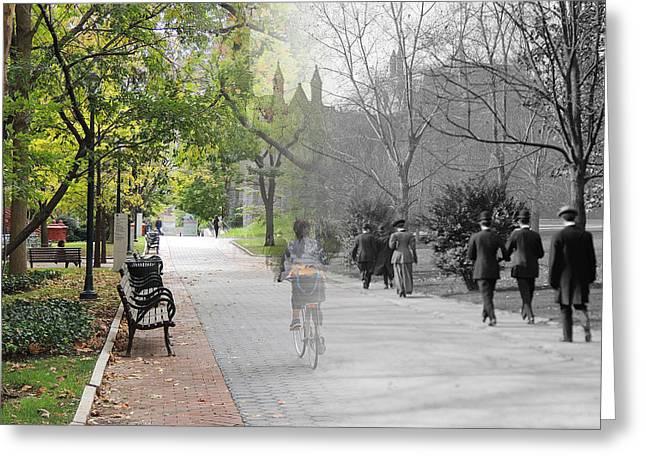 University Of Pennsylvania Walk Greeting Card