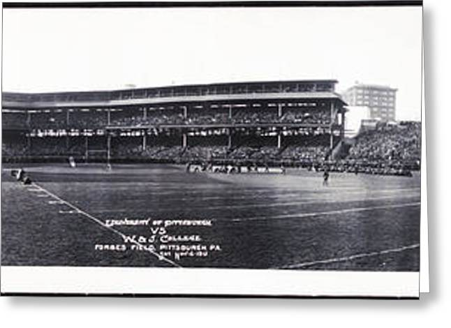 University Of Pittsburgh Vs W And J College Forbes Field Pittsburgh Pa 1915 Greeting Card