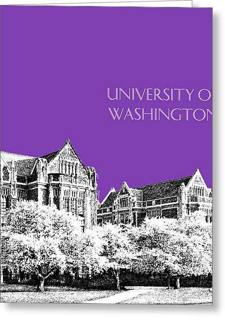 University Of Washington 2 - The Quad - Purple Greeting Card by DB Artist