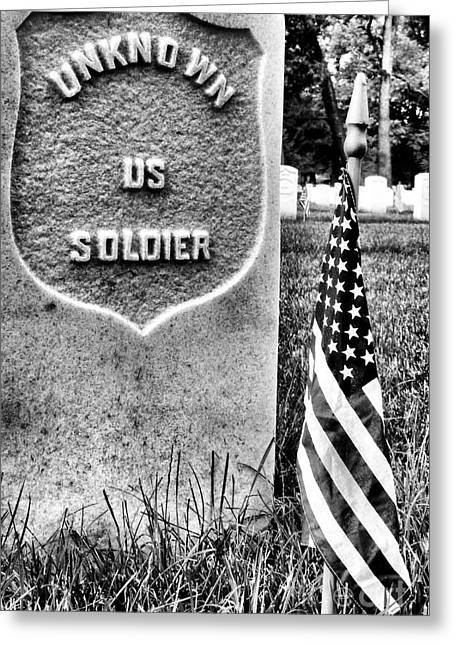 Unknown Soldier Greeting Card by JC Findley