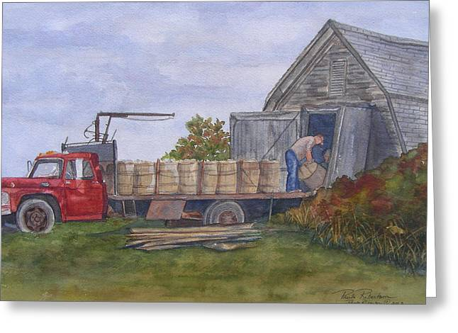 Unloading At The Potato House Greeting Card