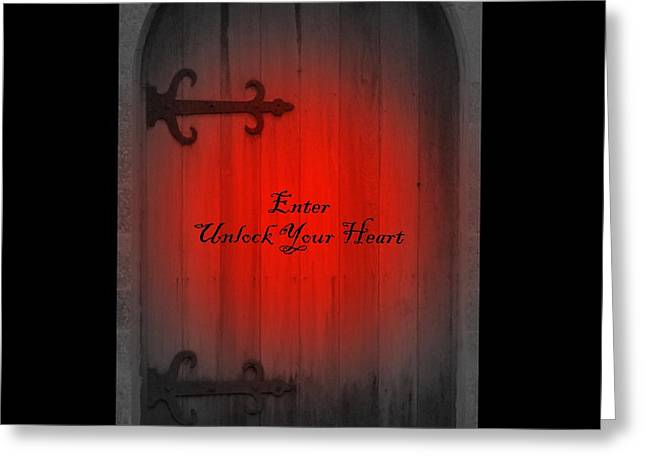 Unlock Your Heart Greeting Card by Linda Prewer