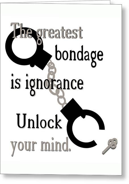 Unlock Your Mind Greeting Card