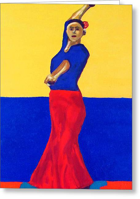 Unnamed Flamenco Dancer Greeting Card by Greg Mason Burns
