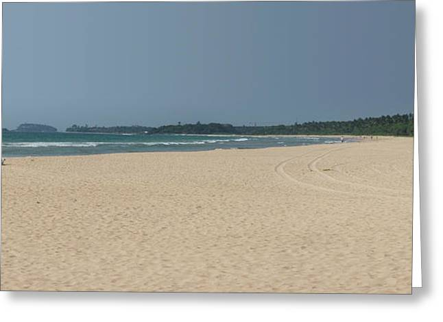 Unspoiled Beach At Bentota Beach Greeting Card