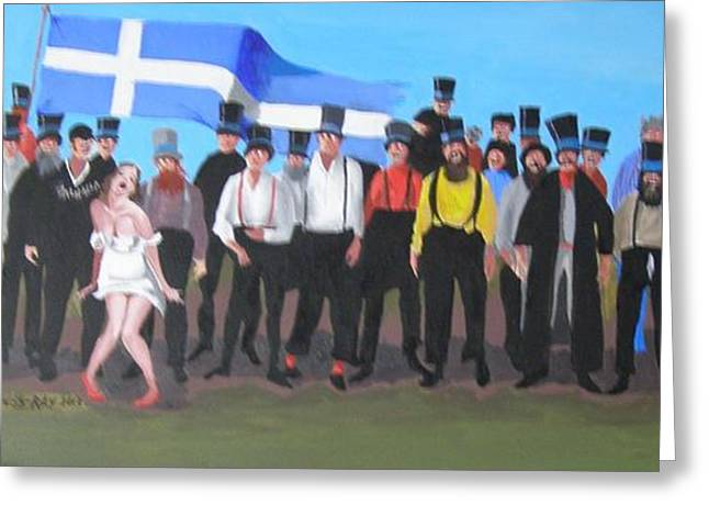Unst Mail Voice Choir World Tour Greeting Card by Eric Burgess-Ray