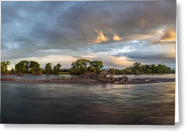 Untamed Yellowstone River Greeting Card by Leland D Howard