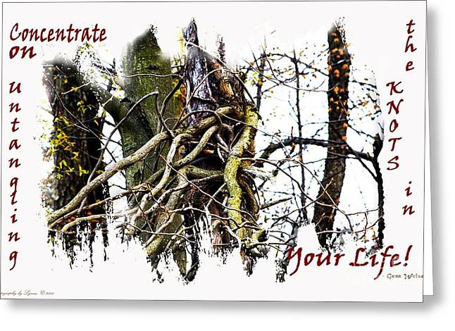 Untangle Your Knots Greeting Card