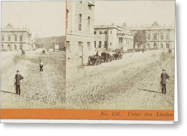 Unter Den Linden Berlin, Germany, Johann Friedrich Stiehm Greeting Card by Artokoloro