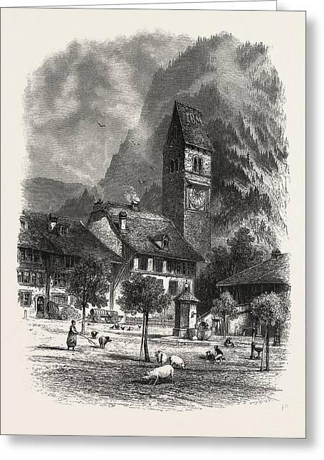 Unterseen, Bernese Oberland, Berner Oberland Greeting Card