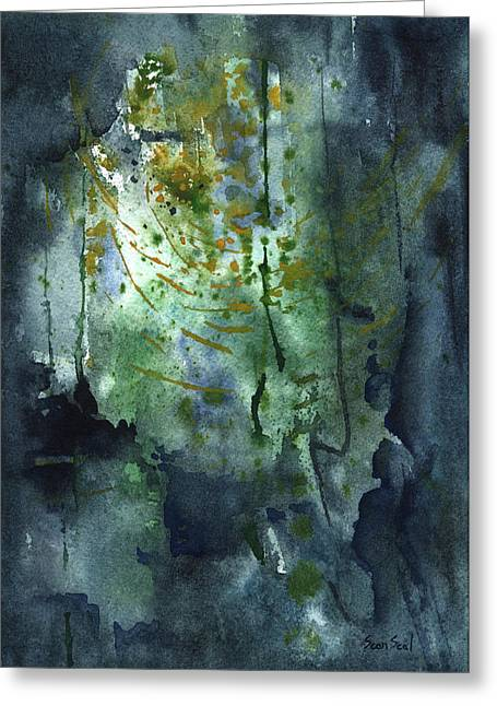 Untitled Abstract 128-13 Greeting Card by Sean Seal