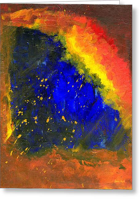 Greeting Card featuring the painting Untitled Abstract 8-1614 by Sean Seal