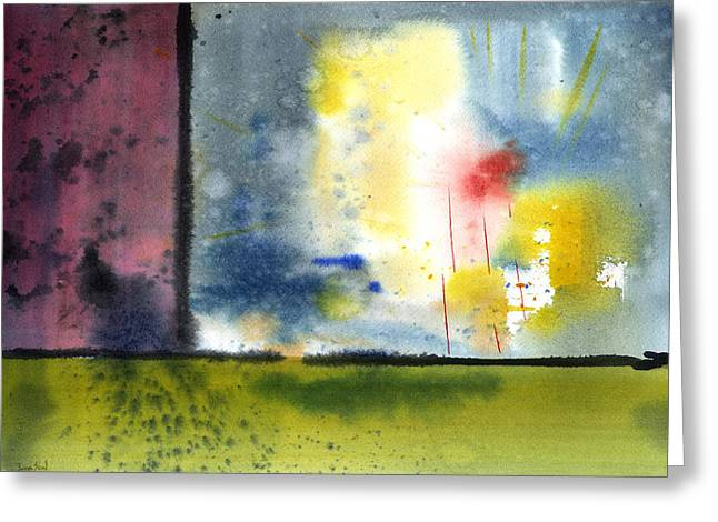 Greeting Card featuring the painting Untitled Abstract 84-14 by Sean Seal