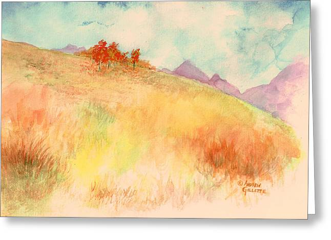 Untitled Autumn Piece Greeting Card