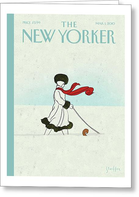 New Yorker March 1st, 2010 Greeting Card