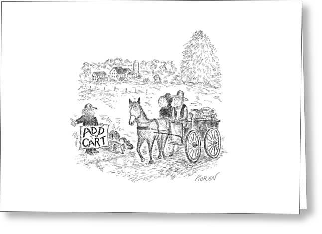New Yorker September 12th, 2016 Greeting Card by Edward Koren