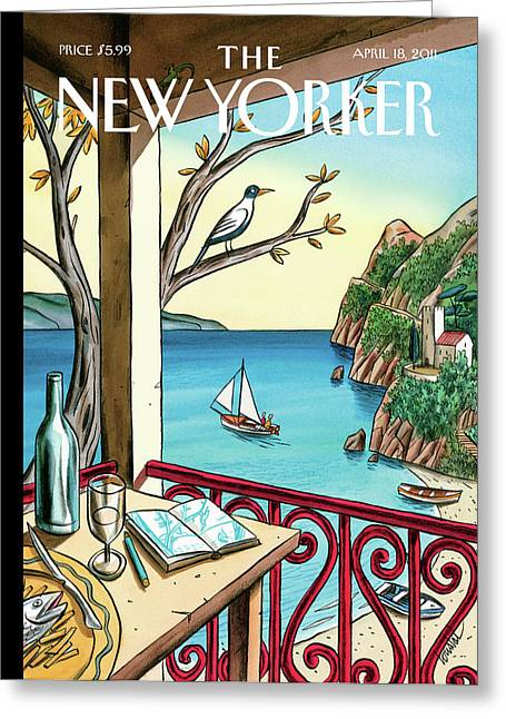 New Yorker April 18th, 2011 Greeting Card