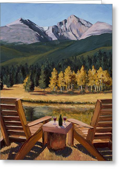 Table For Two Greeting Card by Mary Giacomini