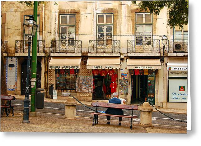 Lisbon Street Scene Greeting Card