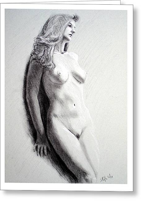 Untitled Nude Greeting Card by Joseph Ogle