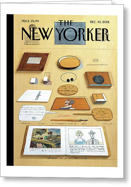 New Yorker December 10th, 2012 Greeting Card by Saul Steinberg