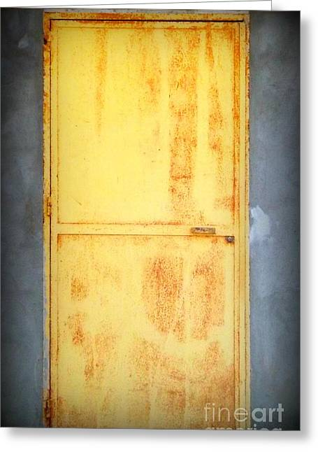 Unused Door Greeting Card by Clare Bevan
