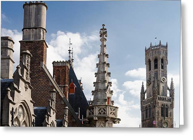 Unusual Brugge Greeting Card