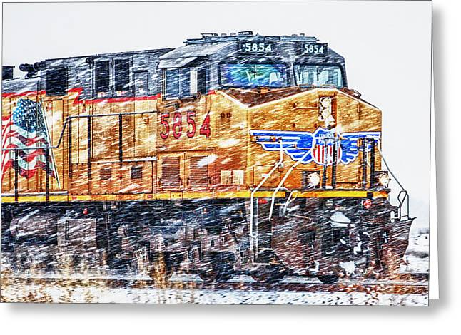 Up 5854 In The Snow Greeting Card