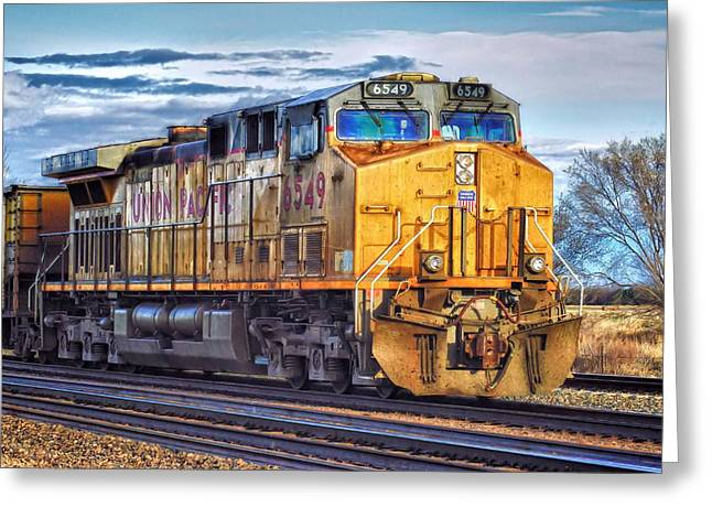 Greeting Card featuring the photograph Up 6549 by Bill Kesler