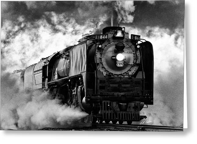 Greeting Card featuring the photograph Up 844 Steaming It Up by Bill Kesler