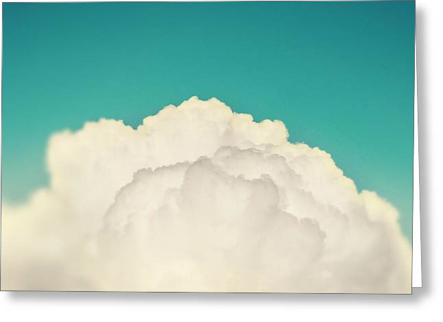 Up Above The Clouds Greeting Card by Amy Tyler