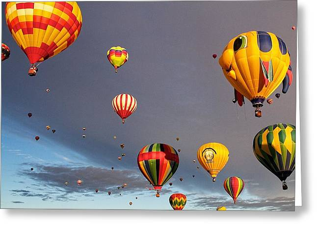 Greeting Card featuring the photograph Up And Away by Dave Files