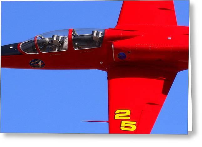 Up Close And Violated At The Reno Air Races. N757sf.jpg Greeting Card by John King